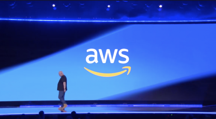AWS CTO Werner Vogels onstage November 29, 2018 at re:Invent. Image Credit: AWS
